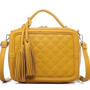 •Heavy on the Mustard• Quilted Handbag
